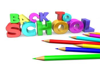 Back to School Wording in Colored Pencil Atlanta GA