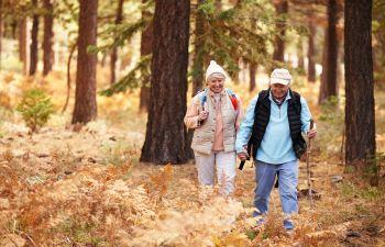 Older Couple Walking Through the Woods Atlanta, GA
