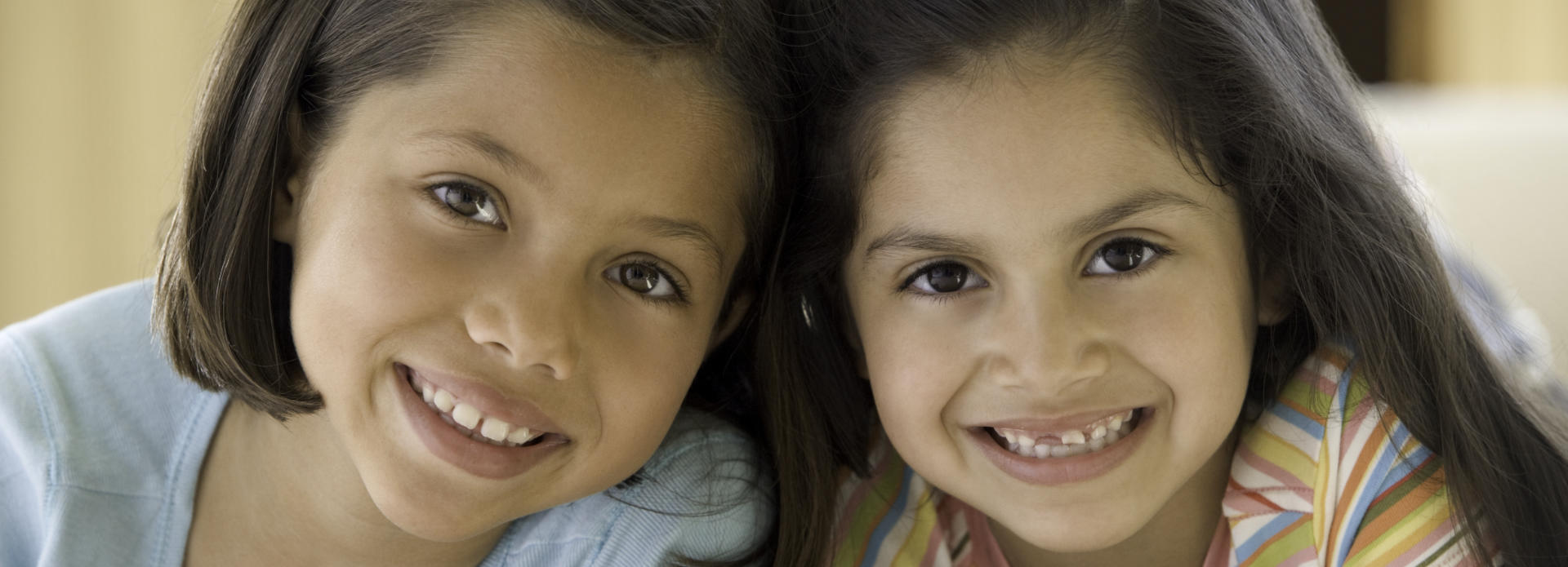 smiling kids, sisters