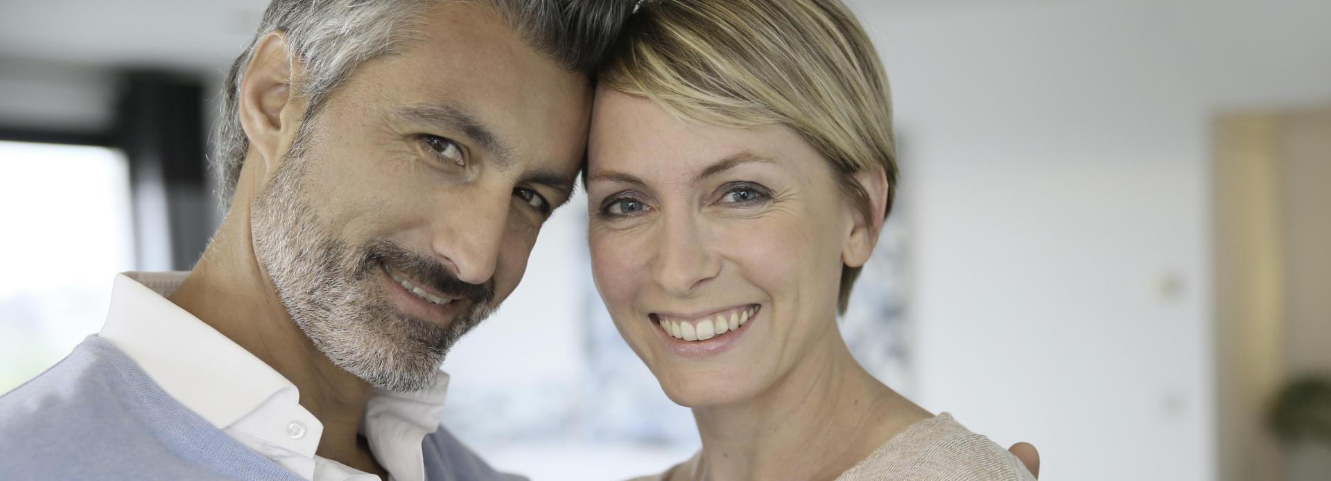 mature smiling couple