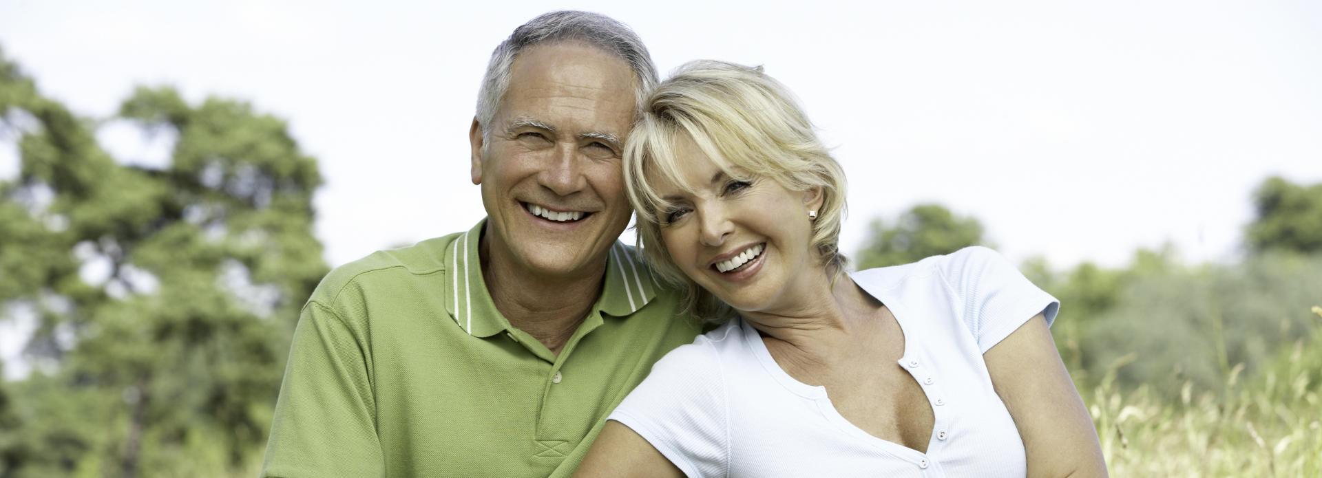 joyful mature couple