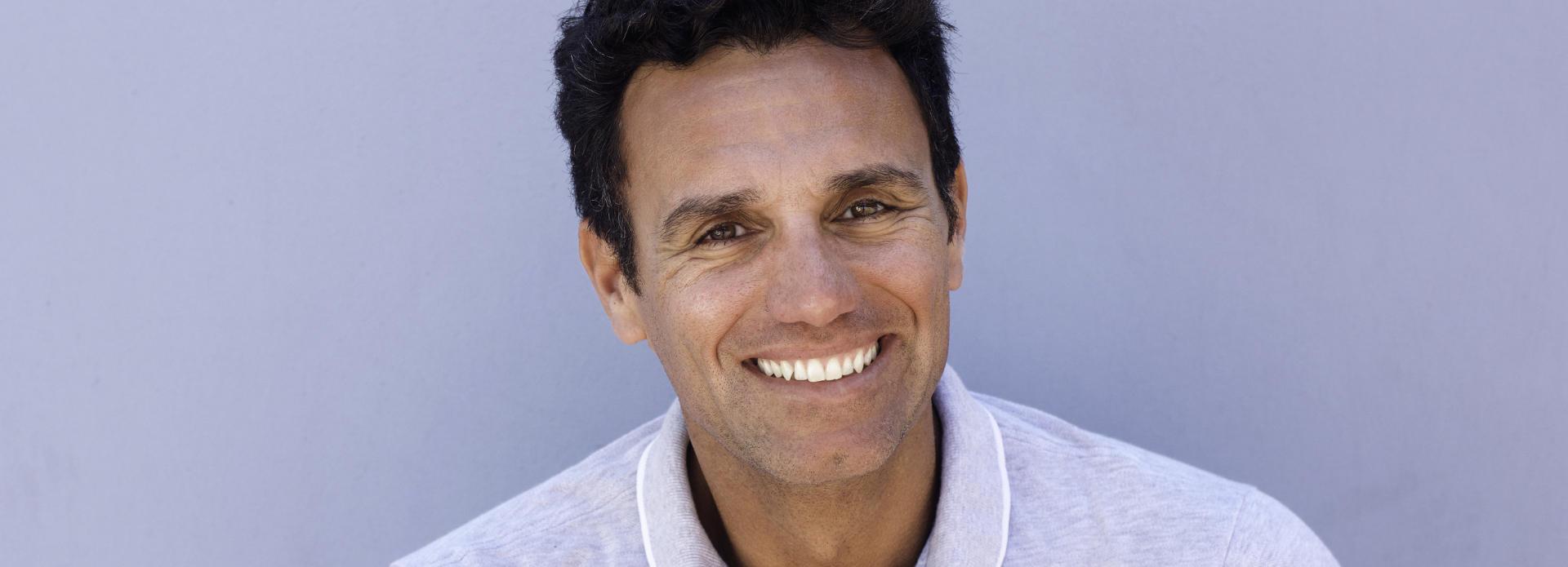 mature, cheerful, smiling man