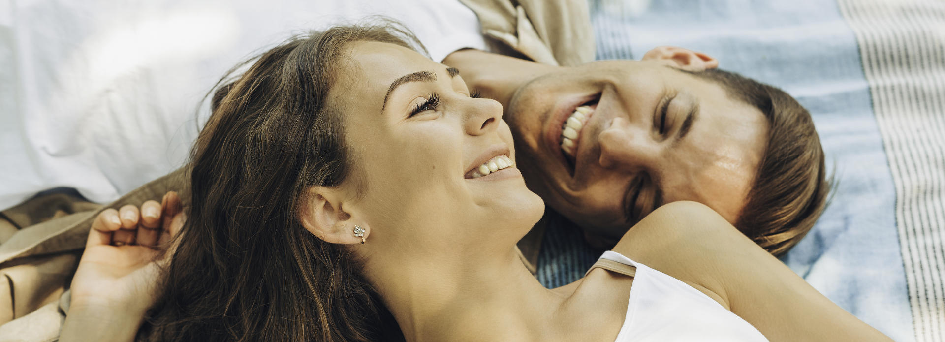 beautiful young couple smiling