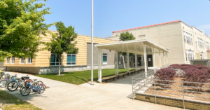 Shade structure at Mary Lin Elementary school