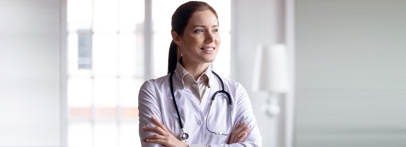 Proud female doctor