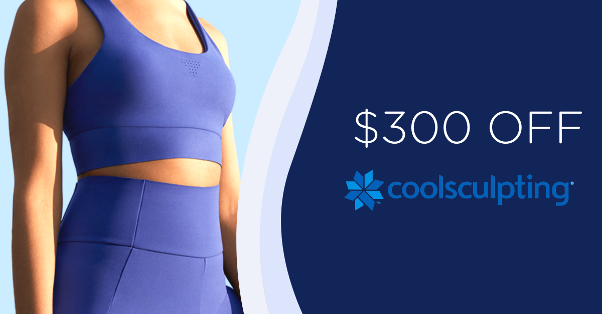 Mention our $150 off CoolSculpting Promotion from our website and get a $150 match, equaling a total of $300 off your CoolSculpting treatment at our Buckhead office.