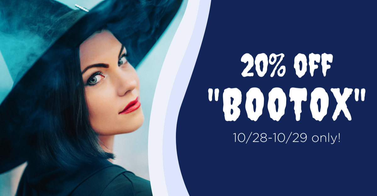 """20% off """"Bootox"""" 10/28–29 only"""